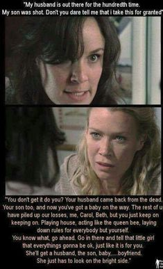 To whomever made this: THANK YOU!!! This is one of best speeches given by any character to any character, and the reason I LIKED Andrea. A lot.