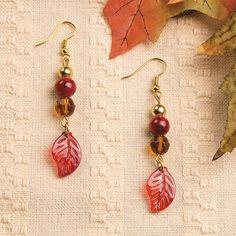 Fall Leaf Earring Idea - OrientalTrading.com