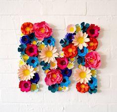 handmade paper flower initial by comeuppance | notonthehighstreet.com