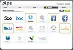 Pi.pe, webapp para transferir imágenes entre distintas redes sociales y servicios de almacenamiento