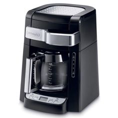 De'Longhi Black Residential Drip Coffee Maker at Lowe's. The DeLonghi Drip Coffee Maker with Complete Frontal Access allows you to easily fill the water tank and ground coffee filter without Thermal Coffee Maker, Best Drip Coffee Maker, Coffee Maker Machine, Coffee Machines, Espresso Machine Reviews, Coffee Maker Reviews, Cafetiere, Great Coffee, Espresso Coffee