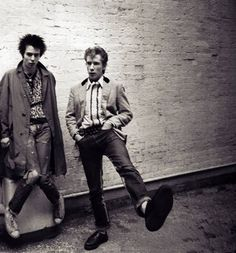 Sid Vicious & Johnny Rotten by Adrien Boot