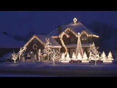 """Merry Christmas To Everyone! """"Amazing Grace"""" Light Show! Best Christmas Light Displays, Christmas House Lights, Christmas Music, Christmas Love, Beautiful Christmas, Christmas Holidays, Merry Christmas, Christmas Decorations, Christmas Houses"""