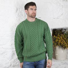 bc3619518a79df Traditional Men s Aran Sweater
