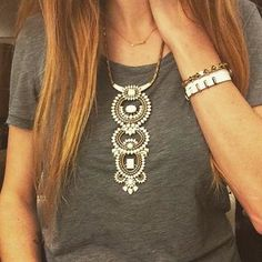 Versatile Havana Pendant Necklace | Stella & Dot- pieces are removable for three separate looks