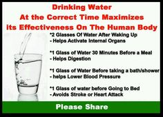 Water is good any time but especially helpful at these times :)