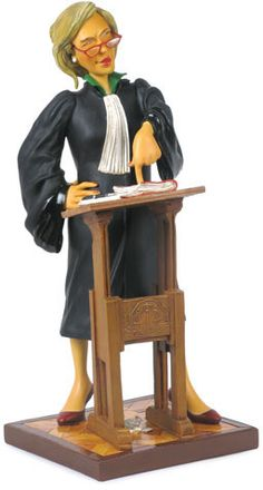 Lady Lawyer Figurine Sculpture by artist Guillermo Forchino. Discover the entire comical art collection at AllSculptures.com