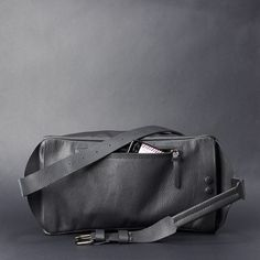 Black leather sling backpack made by Capra Leather. Move in your own way Black Backpack, Backpack Bags, Sling Backpack, Leather Bag, Black Leather, Men Accesories, Everyday Carry, Shoulder Bag, Bag Men