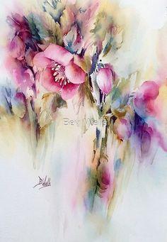 Bilderesultat for bev wells watercolors Watercolor Pictures, Watercolor Artists, Watercolour Painting, Watercolors, Art Floral, Abstract Flowers, Watercolor Flowers, Abstract Art, Beginner Painting