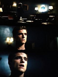 His two faces broke me...especially how he looked angry at first...then it's as if he remembered about Katniss having to go back into the arena and started realizing that she could die.