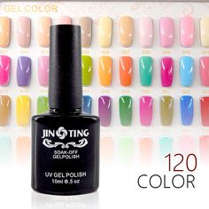 120 Colores de Uñas de Gel Polaco ULTRAVIOLETA Del Gel Soak-off de Larga duración LED UV Gel Color de Uñas Caliente Gel 10 ml/Pc-S04