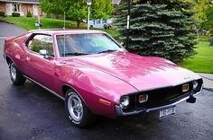 1973 Javelin--  My first car was either a '71 or '73 Javelin--fuscia.  I wish I had kept it.