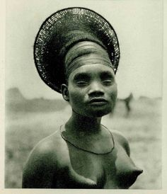 Mangbetu Woman - Congo, 1924 Photographer: unidentified photographer of the Citroën Expedition