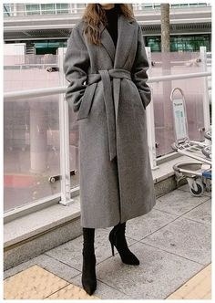 Modern Simple Mood Long Coat - I know you wanna kiss me. Thank you for visiting CHUU. Long Coat Outfit, Winter Coat Outfits, Trench Coat Outfit, Winter Fashion Outfits, Fall Outfits, Women's Fashion, Fashion Coat, Long Trench Coat, Vest Coat
