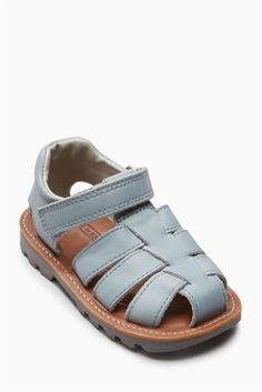 Grey Leather Sandals (Younger Boys)