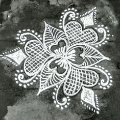 Rangoli Designs Flower, Rangoli Border Designs, Rangoli Ideas, Rangoli Designs With Dots, Rangoli Designs Images, Flower Rangoli, Beautiful Rangoli Designs, Indian Rangoli, Diwali Rangoli