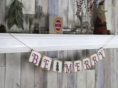 CHRISTMAS DECORATION Be Merry Christmas by WeddingBannerLove