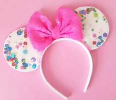 Unbirthday Celebration Mouse Ears Confetti Minnie Mouse