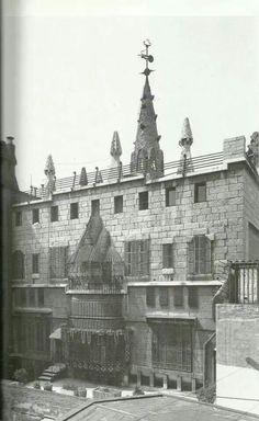 Palau Güell.façana posterior