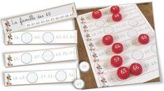 Atelier Numération : les familles de nombres avec des bouchons