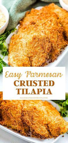 Tilapia Fillet Recipe, Baked Tilapia Fillets, Best Tilapia Recipe, Breaded Tilapia, Baked Tilapia Recipes, Baked Fish, Fish Recipes, Seafood Recipes, Cooking Recipes