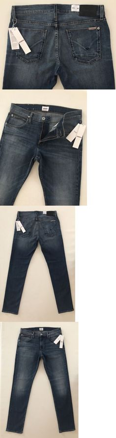 Jeans 11483: Hudson Nwt Men S Jeans Blake Slim Straight Zyp Fly Size 33X34 New $198.00 -> BUY IT NOW ONLY: $82 on eBay!