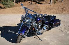 Used 1999 Harley-Davidson ROAD KING Motorcycles For Sale in California,CA. 1999 Harley Davidson Road King. Very clean with 48675 miles. New rear tire with less than 6 miles on it. New battery. Includes 2 seats and rear passenger detachable back rest. Cobalt blue paint. Smoked lenses. Braided cables. Tons of chrome. I have ridden very little in the 7 years I have owned it. Never an issue. I do not ride due to medical issues so figure it should go to a good home with someone who will ride it.