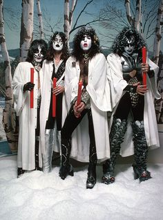 KISS Christmas Card 1976, Gene Simmons is an Israeli.