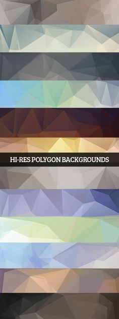 Polygon Backgrounds #lowpolybackgrounds #geometircbackgrounds #polygonalbackgrounds