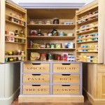 Woodwork Kitchens Hand Painted Kitchen Gallery - The Extra Details Larder Cupboard, Kitchen Gallery, Kitchen Paint, Handmade Furniture, Home Projects, Liquor Cabinet, Sliding Drawers, New Homes, Woodworking