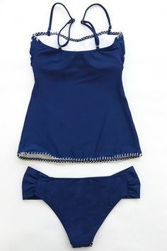 This tankini is sure to steal the show wherever it travels. The Exquisite Taste Embroidery Bikini Set is made from a chinlon and spandex blend for extra smooth feel.Made with Love: This swimsuit is part of Cupshe's Pearl Collection, which means it was specially dyed for brighter color and parts of it may have been made by hand.Product Code: CYY1274Details:EmbroideredPadded cupsAdjustable shoulder strapsHand wash and hang dryFabric: 80% chinlon, 20% spandex Bikini Set, Bikini Bottoms, Beach Dresses, Triangle Bikini, Swimsuits, Swimwear, Black Lady, White Lace, Tankini