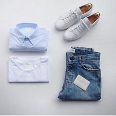 Outfit by: @lifestyle_of_james ______________ @thenortherngent for more outfits. #SHARPGRIDS to be featured. ______________ Shirt by: @isto.pt Pants by: @wonhundred_official Shoes by: @commonprojects ______________ #style #stylish #gqstyle #flatlay #outfitgrid #outfitgrids #mensfashion #menwithstyle #summerfashion #styleformen #lookbook #sneakers #outfitoftheday #ootd #whatiworetoday #wiwt #ootdmen #streetfashion #fashionblogger #flatlays #dapper #streetwear #menstyle #minimalist - Men's…