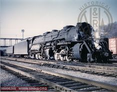 N&W Y6b 2200 Right Front 3/4 View at Bluefield, WV