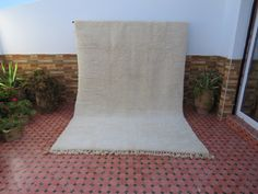 Beni Ourain, Cream White, Decoration, I Shop, Plush, Rug, Wool, Natural, Vintage