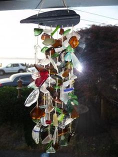 DIY Beach Glass Windchime - a good excuse to comb Northeast Ohio's beaches this summer!