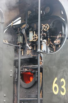 Steam engine cab.