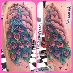 https://www.facebook.com/VorssaInk, http://tattoosbykata.blogspot.fi, #tattoo #tatuointi #katapuupponen #vorssaink #forssa #finland #traditionaltattoo #suomi #oldschool #peacock