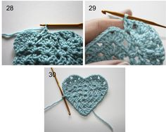 How to Crochet a Granny Heart - Tutorial =)