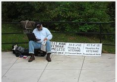 Homeless veteran - Help Us Salute Our Veterans by supporting their businesses at www.VeteransDirectory.com, Post Jobs and Hire Veterans VIA www.HireAVeteran.com Like, Repin, Follow, Link to, write articles etc.. Together maybe we can prevent one suicide, one homeless veteran, one family breakup! Thanks! Semper Fi!!