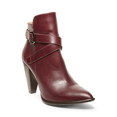 SPENCER BURGUNDY LEATHER women's bootie mid casual - Steve Madden