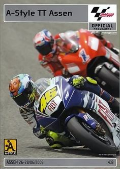 2008 Vr46, Valentino Rossi, Fiat, Circuit, Racing, Posters, Dutch, Motorcycles, Bob
