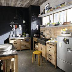 cuisine vintage 10 idees pour lui donner un style recup pinterest kitchens
