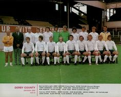 Derby County squad 1973 in the then Division One (now Premiership). Brian Clough back row, far right.