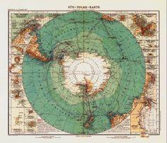 (Antarctic Map from 1912) Beautiful