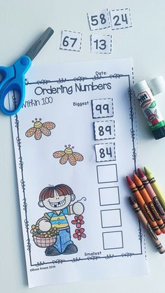 This spring themed ordering numbers BUNDLE contains 20 no prep, cut and paste worksheets perfect for kids needing to develop skills ordering numbers within 100. These worksheets can also be laminated for children to write the numbers on with a marker, making them a great addition to any math centre. Perfect for kindergarten and first grade teachers. #springmath #orderingnumbers #mathcentres #kindergartenmath #firstgrademath Second Grade Teacher, First Grade Teachers, First Grade Math, Grade 2, School Resources, Classroom Resources, Teacher Resources, Kindergarten Math Activities, Preschool
