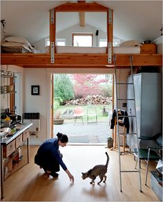 converted garage - my future laBORitory, cat included. just needs more sciencing.