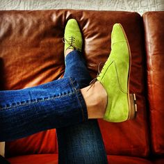 Lime suede