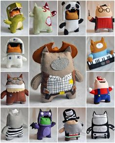dolls ~ i love these but I wish there was a link back to the creator of them. does anyone have any idea of the artist?