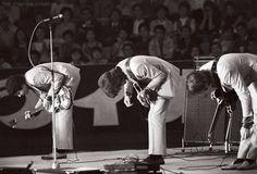 July 1, 1966 The Beatles perform at Budokan Hall in Tokyo, Japan.