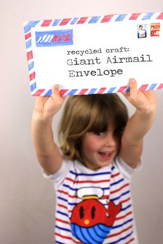 Recycled Craft: Giant Airmail Envelope